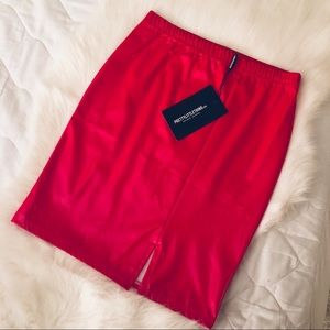 🔺Red Vinyl Mini Skirt🔻